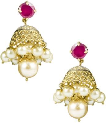 Paradise Sparkle Jhumki Brass, Copper Jhumki Earring