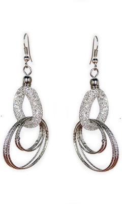 000 Fashions Diamond Wrapped Funky Silver Dangle Earrings Crystal Alloy Dangle Earring