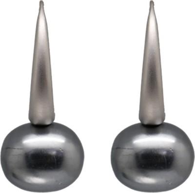 Siyora Bling Grey Brass Dangle Earring