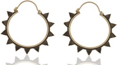 ZeroKaata Sunstar Brass Hoop Earring