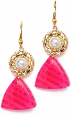 Zahra Jani ZJ Pink Print Earrings Metal Drop Earring