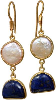JEWELS ART Onyx Brass Dangle Earring