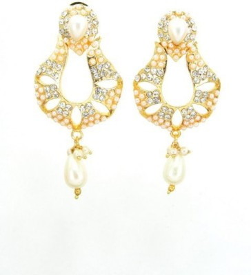 Craftswale Cubic Zirconia, Beads Alloy Drop Earring