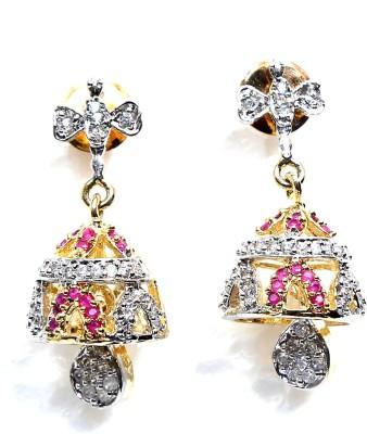 Taj Jewels Golden Bell Copper Jhumki Earring