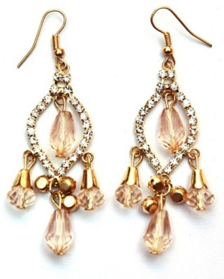 Jodhpuriyas BRIGHT SPARKLING FASHIONABLE LEAF LATKAN EARING Alloy Dangle Earring