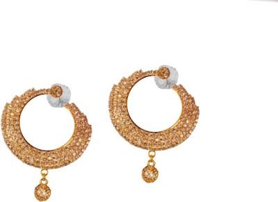 Ratnaraj India Partywear Plated Dangle & Drop Stone Copper Chandelier Earring