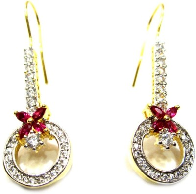 Poddar Jewels Designer Cubic Zirconia Alloy Dangle Earring