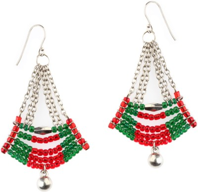 Trinketbag Red & Green Arc Alloy Dangle Earring