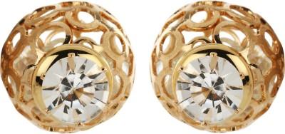 Amroha Crafts Golden Grace Alloy Stud Earring