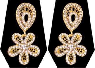 Triumphin Sparkling Flower Zinc Drop Earring