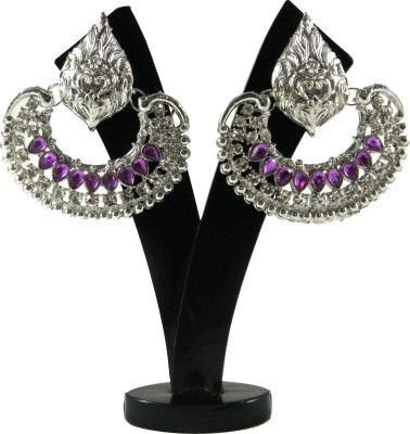 Tradeyard Impex Distinguished Cubic Zirconia Alloy Chandbali Earring
