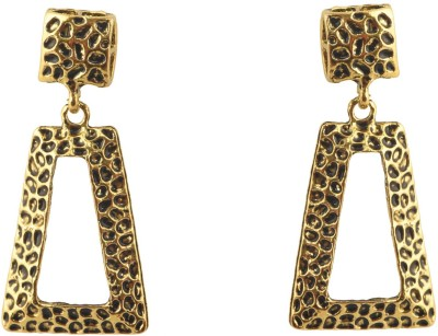 Shamoda Trendy Oxidised Gold Metal Drop Earring