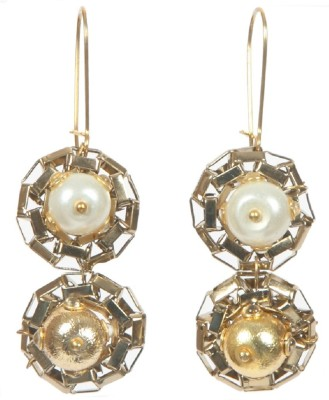 Envy Antique Pearl Brass Dangle Earring