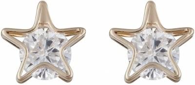 Aaishwarya Golden Star Crystal Alloy Stud Earring