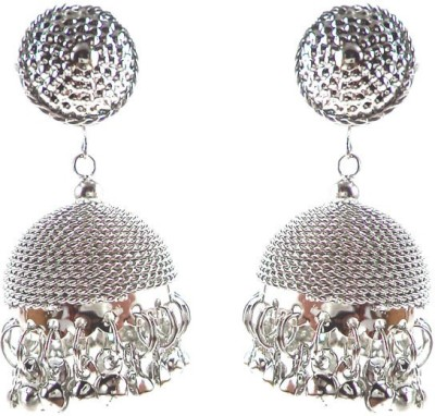 Kenza Silver Brass Brass Jhumki Earring