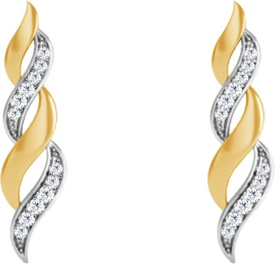 JacknJewel Enchanting Hanging Yellow Gold 18kt Diamond Stud Earring