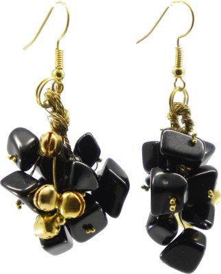 TATWAA THE ELEMENTS GRAPEVINE1 Beads Stone Dangle Earring