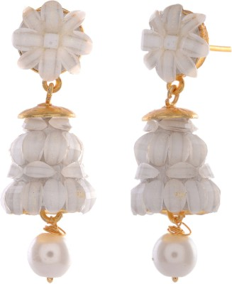 GENUINE MARKETING Alloy Dangle Quartz, Zircon Brass Dangle Earring