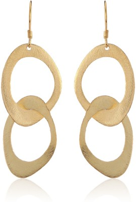 Thingalicious Oval Links Alloy Drop Earring