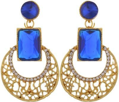 Shourya Dazzling Alloy Chandbali Earring