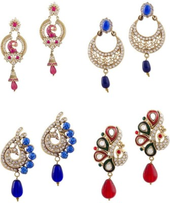Buyclues RCCJ3434 Crystal Brass Earring Set