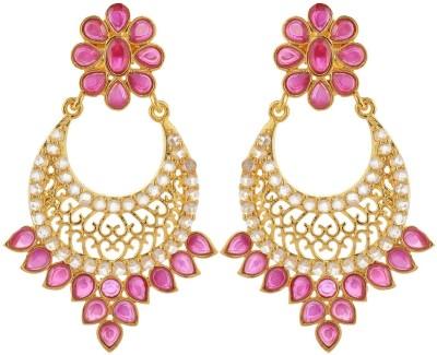 BHANSALI JEWELS Polki Earrings Brass Chandelier Earring