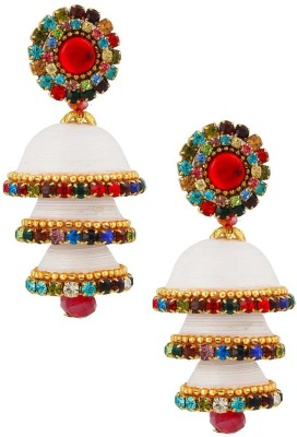 Jaipur Raga Handcrafted Elegant Look Triple Jhumka Brass Jhumki Earring