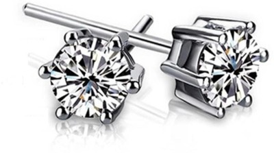 iSweven New Fashion Imitation Zircon Silver For girls Six Claw Jewelry Alloy Stud Earring