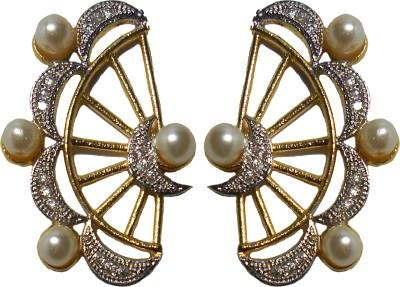 Shubh 4u American Diamond With Pearl Alloy Cuff Earring