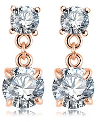 ArietteJewels Snow Droplet Earrings Copper Drop Earring