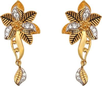 Jewel99 Spring Sparkle Swarovski Zirconia Gold Drop Earring