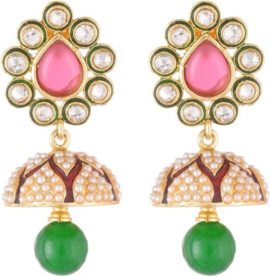 NECKIES AFJER Yellow Gold Jhumki Earring