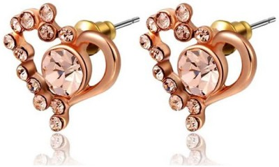 Kundaan Luxury Zircon Crystal Zircon, Crystal Alloy Stud Earring
