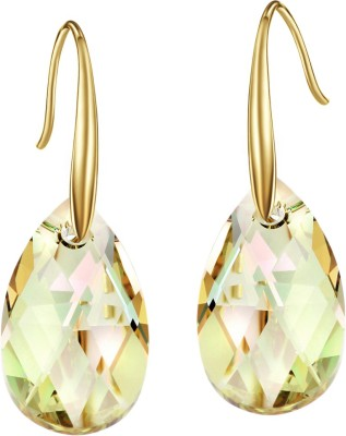 Wearyourfashion Exquisite Gold Swarovski Crystal Alloy Drop Earring