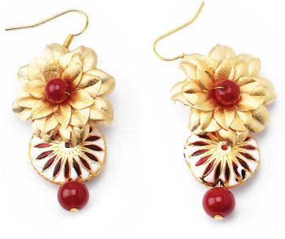 Aarya 24kt Gold Foil Flower Silicone Drop Earring