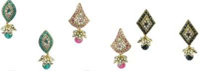 Taruni Combo Of 3. (Blue,Pink,Black) Alloy Earring Set