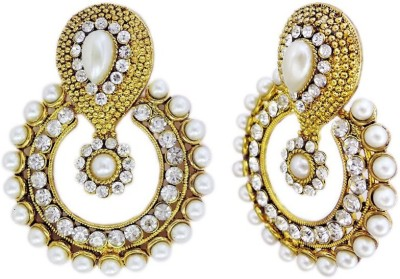 Grand Jewels Angel50 Emerald Alloy, Brass Chandbali Earring