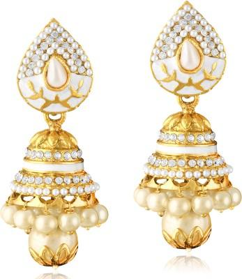 TAKSPIN Bollywood Inspired Pearl Polki Stylish Fancy Party Wear traditional Alloy Jhumki Earring