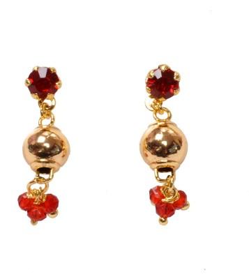 PFJ PFJ3027-EARRING Cubic Zirconia Brass, Copper Drop Earring