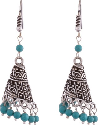 Ganapathy Gems Oxodised Silver Plated Alloy Dangle Earring