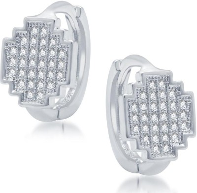 Sukkhi Gleaming Micro Pave Cubic Zirconia Alloy Hoop Earring
