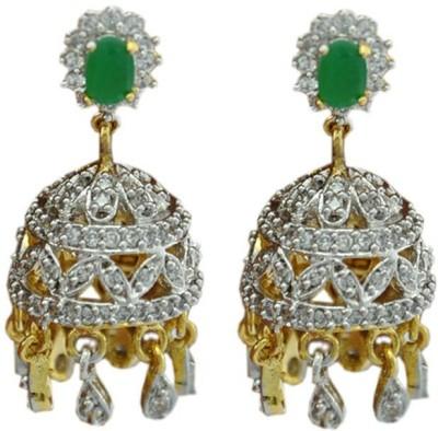 My Sara Tomb Sparkle Cubic Zirconia Brass Jhumki Earring