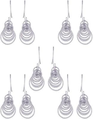 Dubbai Gold Multiple Rings Metal Earring Set