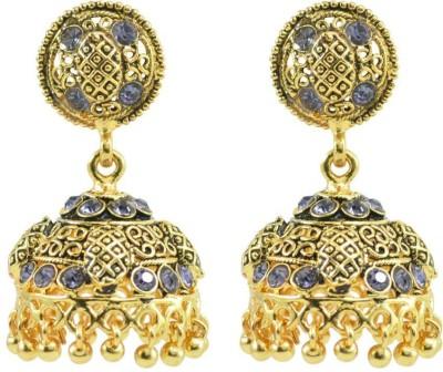 Aakshi Jhumkis On My Mind Stone Studded Zinc, Copper Jhumki Earring