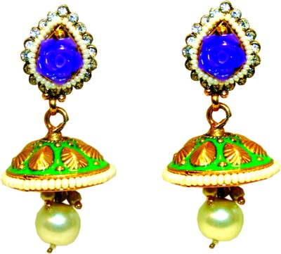 Bejeweled Copper Jhumki Earring