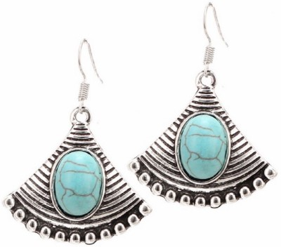 Bohocraft Bohemian Tibetan Sliver Plated Turquoise Alloy Dangle Earring