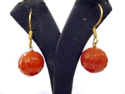 Prism Jewels Semi-Precious Jewellery Onyx Alloy Dangle Earring