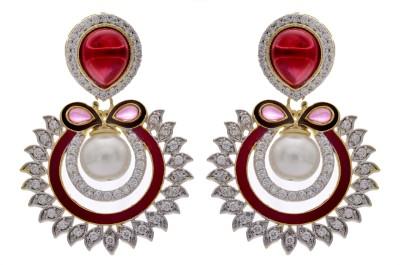 Pearls Cart Just Like Diamonds Alloy Chandbali Earring