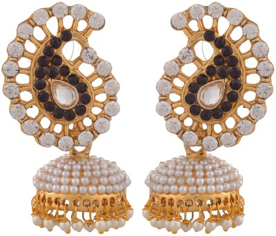 Blacksmith Paisley Delight Crystal Metal Jhumki Earring