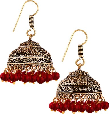 Pinnie Ethnica Antique Maharani Cherry German Silver Jhumki Earring